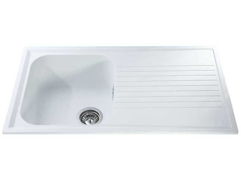 CDA AS1WH Composite Single Bowl Sink