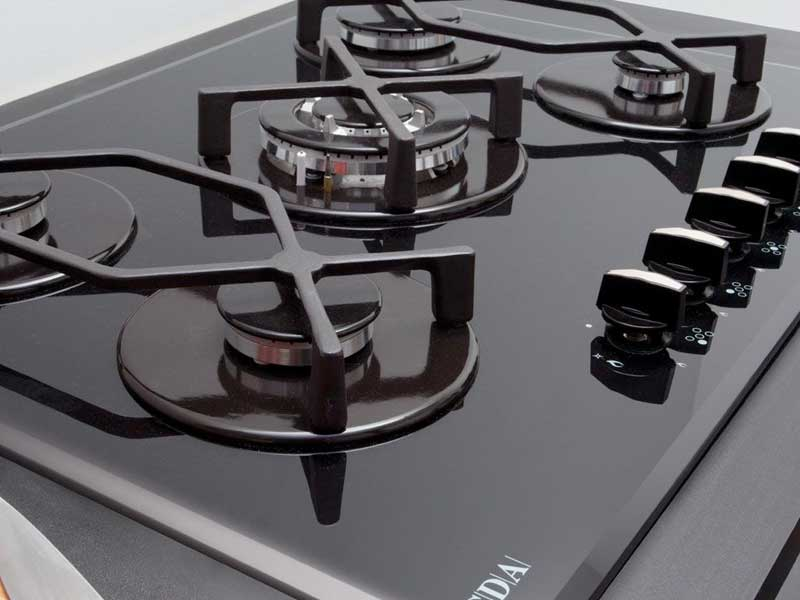 CDA HVG720BL 5 Burner Gas on Glass Hob