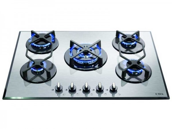 CDA HVG720SS 5 Burner Gas on Glass Hob