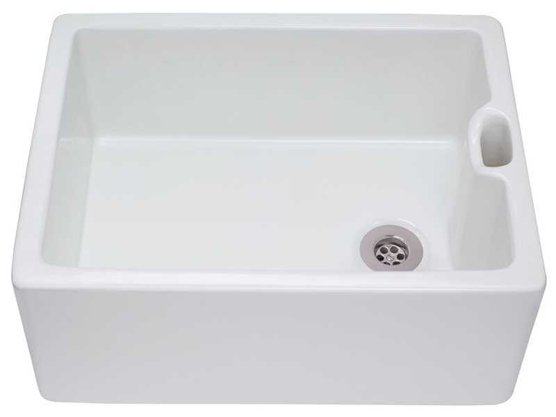 CDA KC10WH Ceramic Belfast Sink