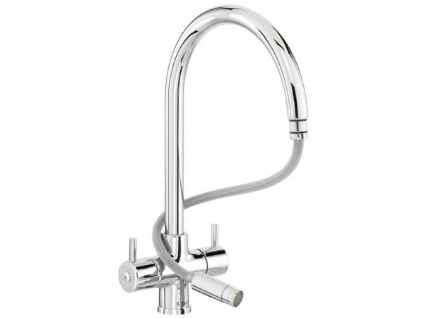 CDA TC56CH Monobloc Tap with Pull-Out Spout
