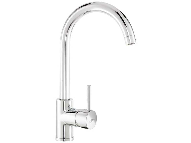 CDA TC57CH Single Side Lever Swan Neck Tap