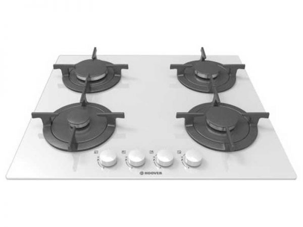 Hoover HGV64SCW 4 Burner Gas on Glass Hob