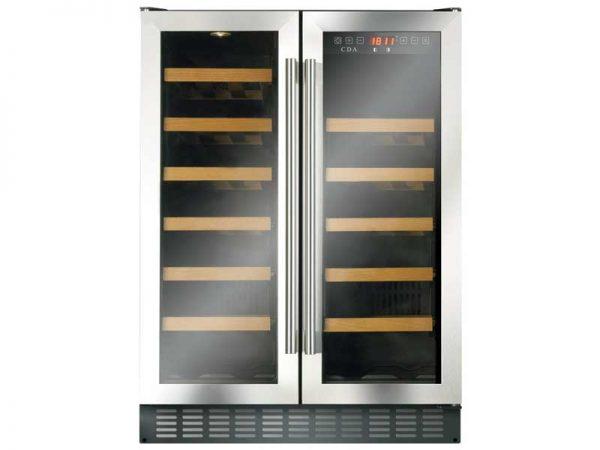CDA FWC624SS Freestanding Double Door Wine Cooler