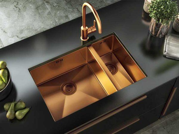 Ellsi Elite Inset/UM Sink 1.5 Bowl - Copper
