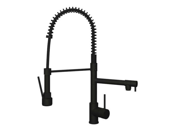 Ellsi Biella Black Mixer Tap with Swivel Spout
