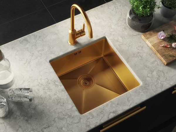 Ellsi Elite Inset/UM Gold Sink Single Bowl