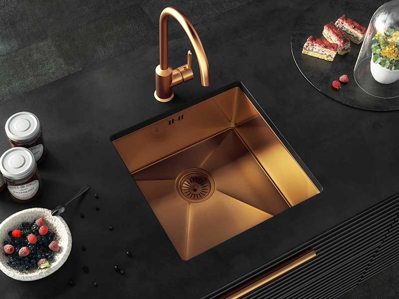 Ellsi Elite Inset/UM Copper Sink Single Bowl