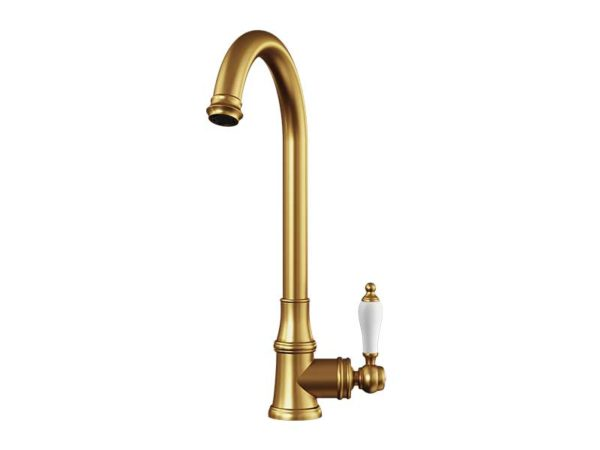 Ellsi Elect Brushed Nickel Mixer Tap with Swivel Spout
