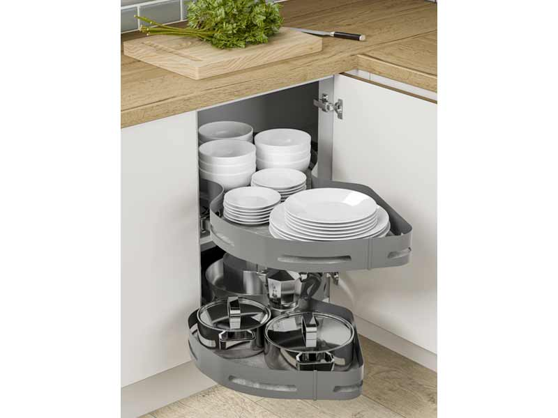 Materia Twin Shelf Corner Pull-Out