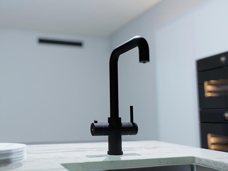 Ellsi 3-in-1 Instant Hot Water Tap - Black